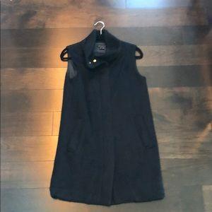 Theory faux fur zip up vest